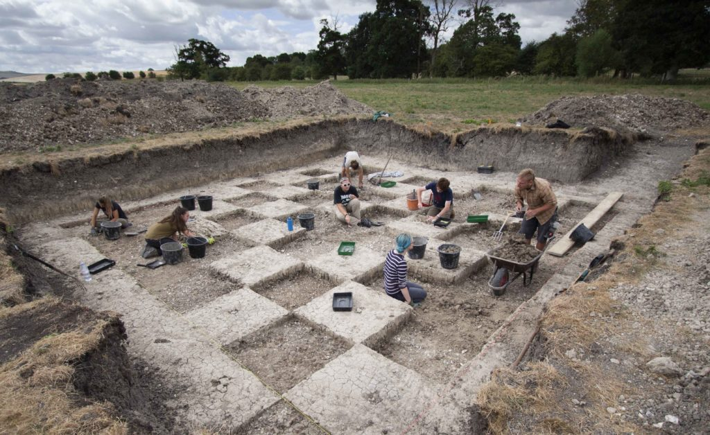 Excavating in squares in Butler's Field